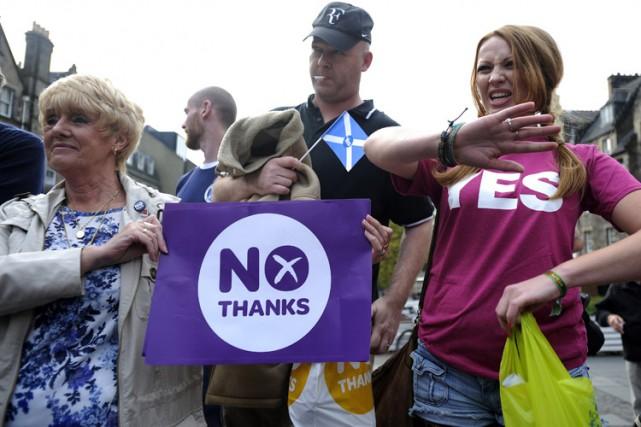 Les deux camps de la campagne pour le référendum sur l'indépendance de l'Écosse... (Photo: AFP)