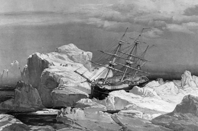 Les deux bateaux de l'expédition Franklin ont disparu... (Image Archives PC)