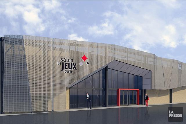 La façade extérieure du Salon de jeux, qui... (Image produite par A21 et STGM)