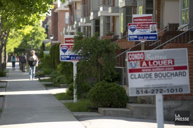 Le prix moyen des propriétés vendues en août... (PHOTO FRANÇOIS ROY, ARCHIVES LA PRESSE)