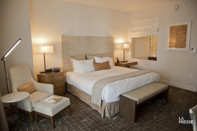 Une chambre de l'Epic Hotel, à Miami.... (Photo David Boily, La Presse)