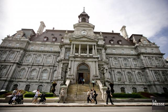 L'hôtel de ville de Montréal... (Photothèque La Presse)