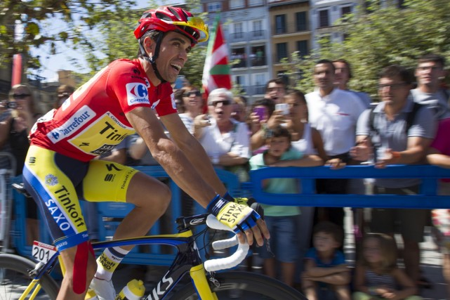 Alberto Contador... (Photo Jaime Reina, AFP)