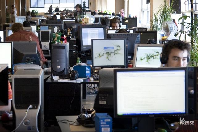 Le studio de développement de jeux vidéo Gameloft... (Photo Marco Campanozzi, archives La Presse)