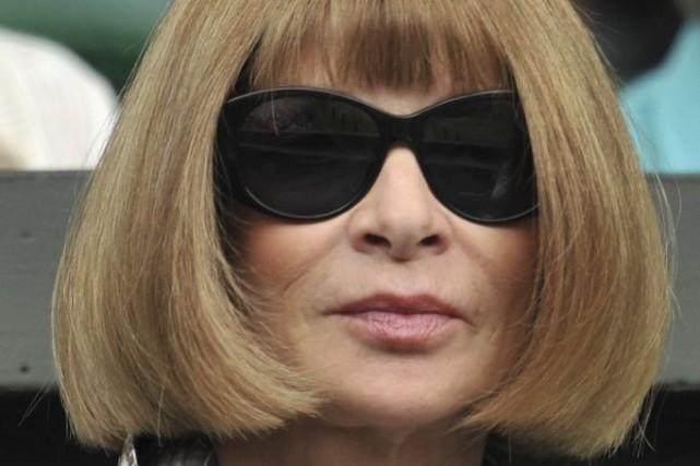 Anna Wintour, prêtresse de la mode.... (Photo: archives AFP)