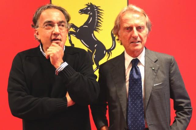 Le président de Ferrari, Luca Cordero di Montezemolo... (Photo archives AFP)