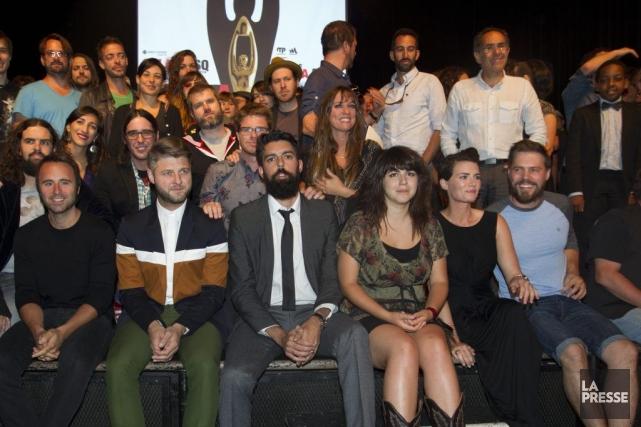 Plusieurs artistes étaient présents hier au Club Soda... (Photo: Olivier Jean, La Presse)