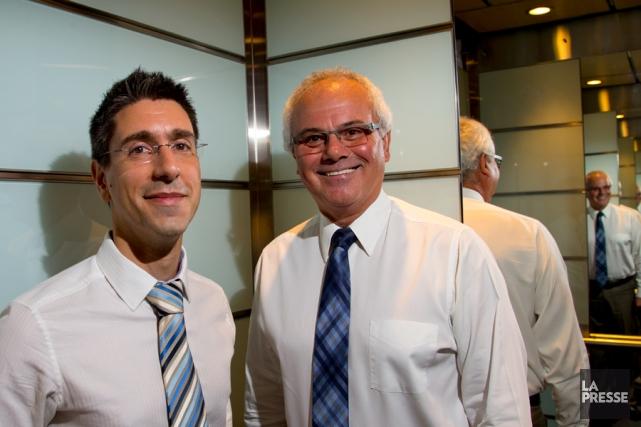 Carmine Zanni (à gauche), conseiller à la chaîne... (PHOTO ALAIN ROBERGE, LA PRESSE)