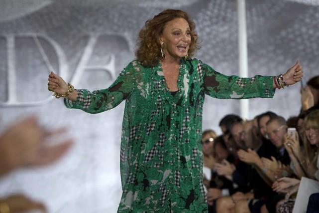 C'est Diane von Furstenberg, la présidente de l'association... (Photo Carlo Allegri, REUTERS)