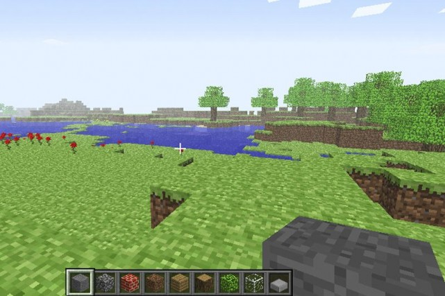 En dépit d'un graphisme nettement moins bien léché... (Photo fournie par Minecraft)