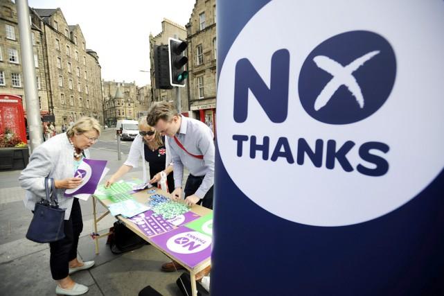 Le dernier sondage, réalisé pour le quotidien écossaisDaily... (PHOTO ANDY BUCHANAN, ARCHIVES AFP)
