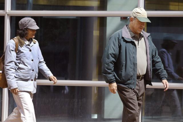 Les parents de Shannon Conley quittant la cour... (Photo: AP)