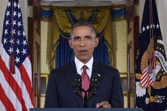 Barack Obama lors de son discours à la... (Photo: AFP)