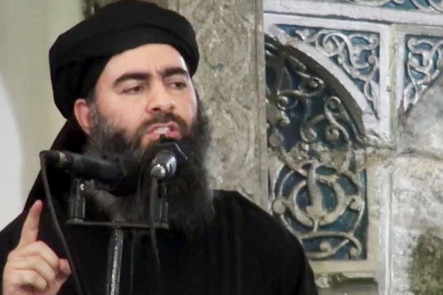 Le calife Ibrahim alias Abou Bakr al-Baghdadi.... (PHOTO ARCHIVES AP)
