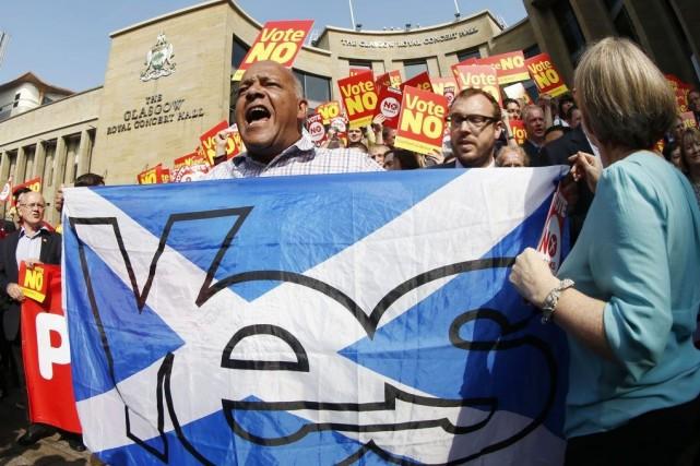 Les Écossais doivent se prononcer le 18 septembre... (Photo Danny Lawson, The Canadian Press)