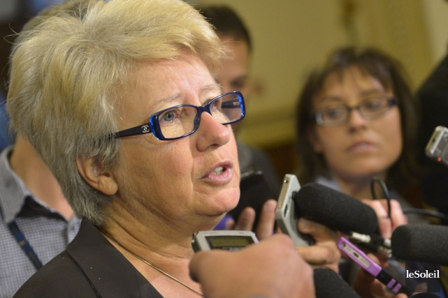 La leader parlementaire péquiste Agnès Maltais a accusé... (Photothèque Le Soleil, Yan Doublet)