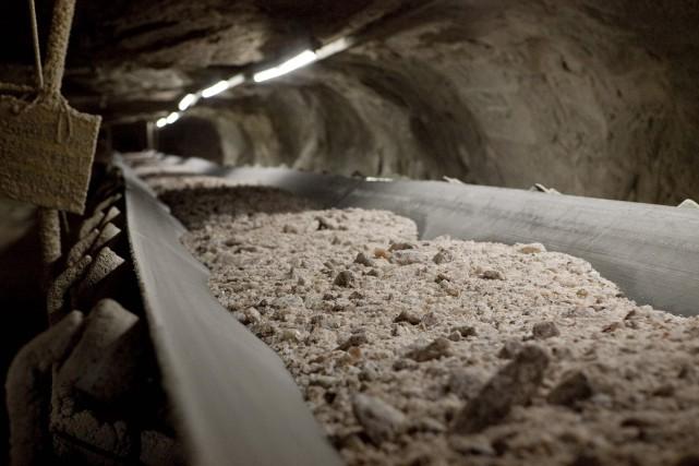 Environ la moitié des quelque 100 employés d'une mine de potasse située près de... (Photo DAVID STOBBE, Archives Reuters)
