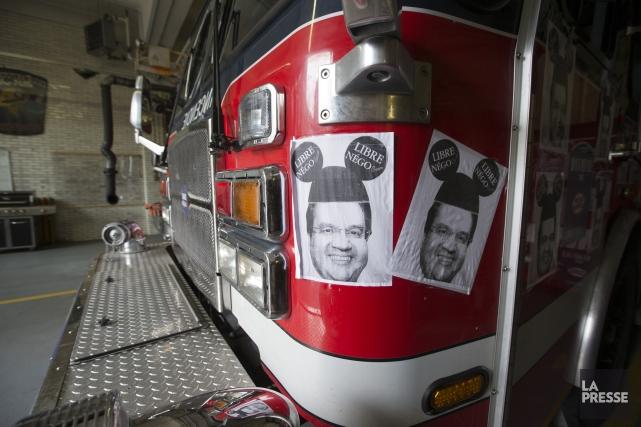 Le président de l'Association des pompiers de Montréal,... (Photo FRANÇOIS ROY, archives La Presse)