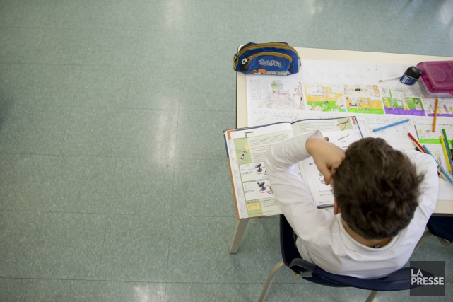 Dans son texte de 500 mots, l'élève qui... (Photo David Boily, archives La Presse)