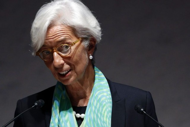 La directrice du Fonds monétaire international, Christine Lagarde.... (Photo Yuya Shino, Reuters)