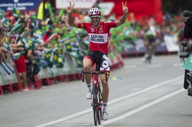 L'Australien Adam Hansen a remporté la 19e étape... (Photo Jaime Reina, AFP)