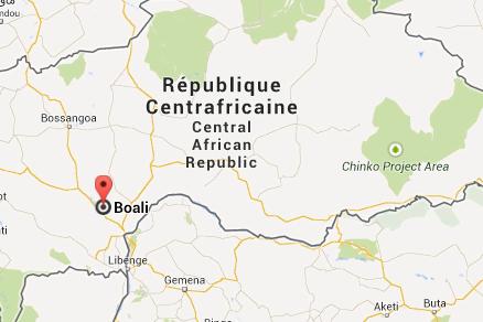Trente personnes ont été tuées et une quarantaine blessées en Centrafrique dans... (Capture d'écran Google Maps)