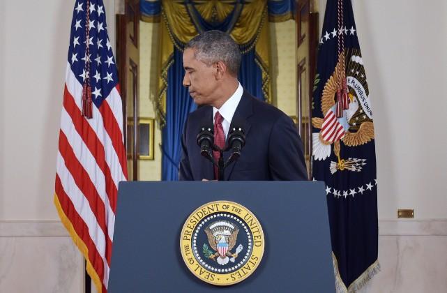 Barack Obama a vieilli de dix ans en... (Photo Saul LOEB, AFP)
