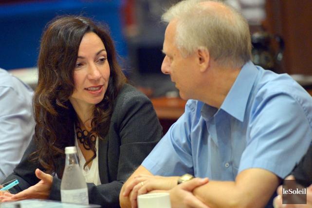 Martine Ouellet et Jean-François Lisée... (Photo Le Soleil, Yan Doublet)