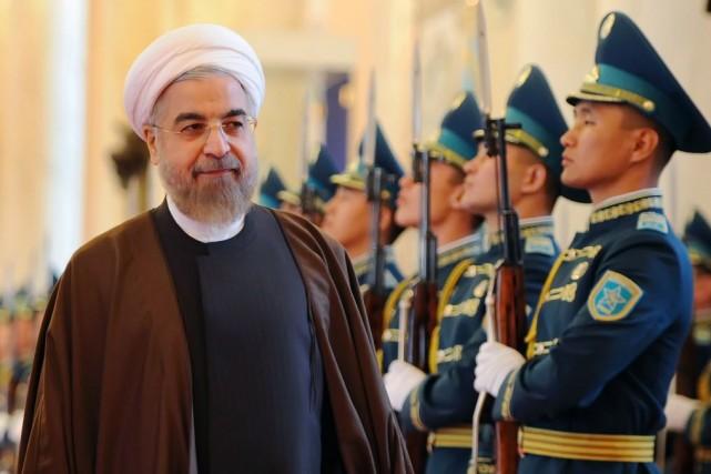 Le président de l'Iran, Hassan Rouhani.... (PHOTO ILYAS OMAROV, AFP)