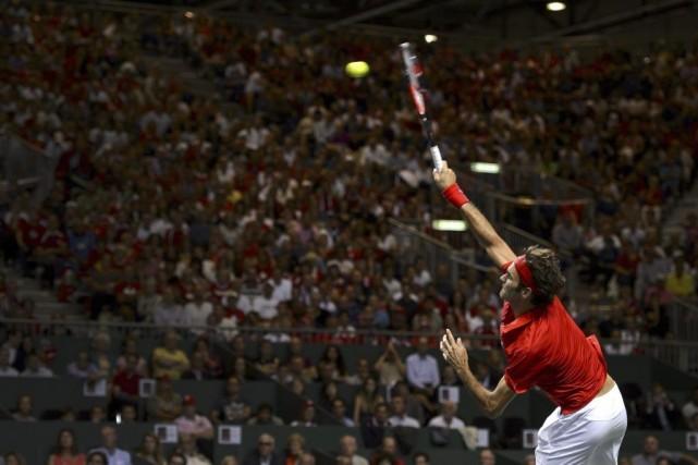 La Suisse mène 2 à 0 contre l'Italie.... (PHOTO FABRICE COFFRINI, AFP)