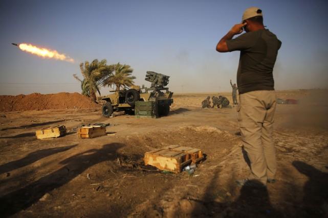 Les États-Unis n'enverront pas de troupes au sol... (PHOTO AHMED JADALLAH, REUTERS)