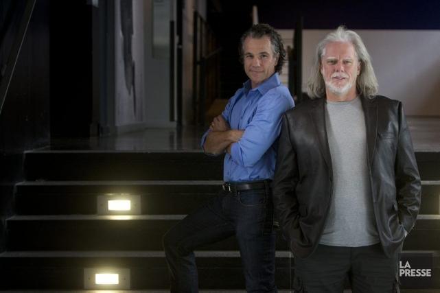 Bruno Pelletier et Guy St-Onges'étaient promis de faire... (Photo Patrick Sanfaçon, La Presse)