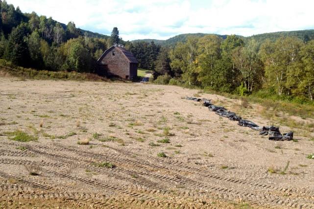 L'emplacement préparé par la firme Gastem aux fins... (PHOTO COLLABORATION SPÉCIALE GILLES GAGNÉ)