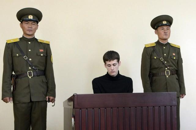 L'Américain Matthew Miller «a commis des actes hostiles»... (Photo KCNA, Reuters)