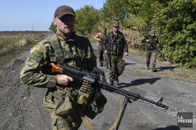 Kiev et les Occidentaux accusent la Russie de... (PHOTO PHILIPPE DESMAZES, ARCHIVES REUTERS)