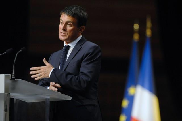 Le premier ministre français, Manuel Valls... (Photo JEAN-CHRISTOPHE VERHAEGEN, AFP)