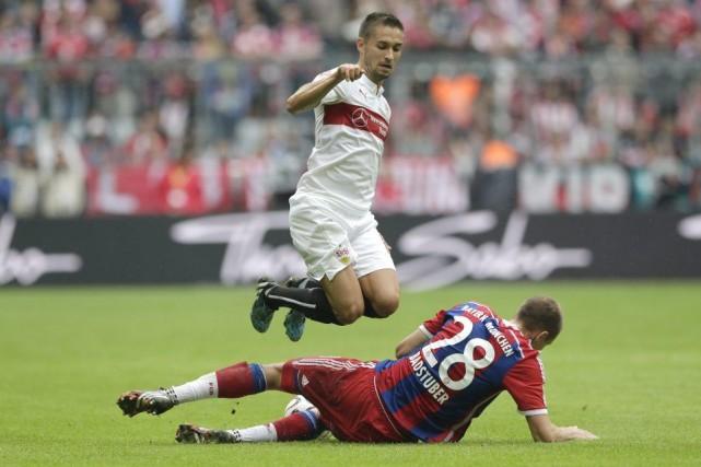 Holger Badstuber, au sol, souffre d'une déchirure d'un... (Photo Matthias Schrader, AP)