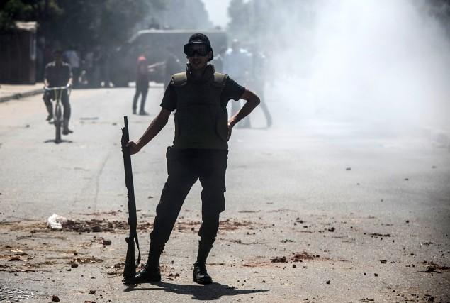 Sept djihadistes ont été tués lors d'une opération conjointe de la police et de... (Photo MOHAMED EL-SHAHED, AFP)