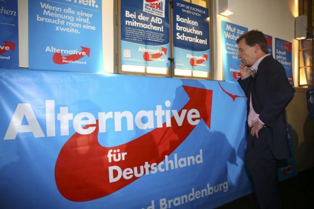 Bernd Lucke, le patron d'«Alternative für Deutschland».... (Photo: AFP)