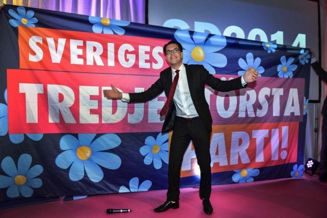 Le président du parti d'extrême droiteDémocrates de Suède,Jimmie... (Photo: Reuters)