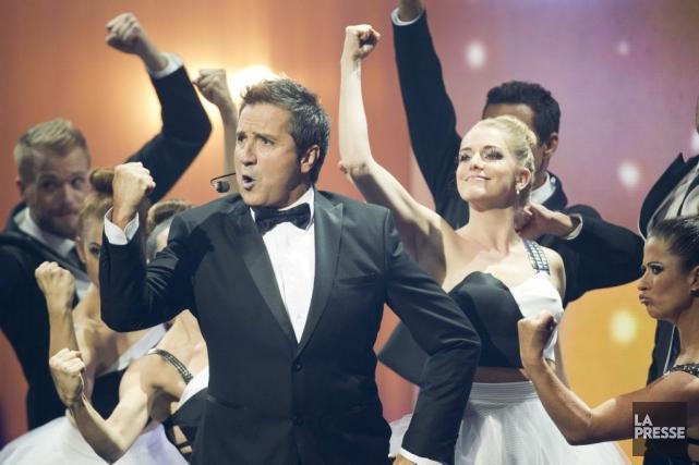 Le maître de cérémonie René Simard a été... (Photo: Olivier Jean, La Presse)