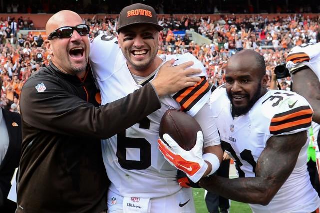 Le nouvel entraîneur-chef des Browns Mike Pettine -... (Photo Andrew Weber, USA Today)