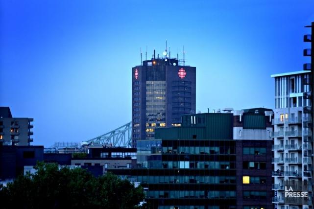 Un collectif d'employés de Radio-Canada appelé ICI précaires dénonce les... (Photo: Bernard Brault, La Presse)