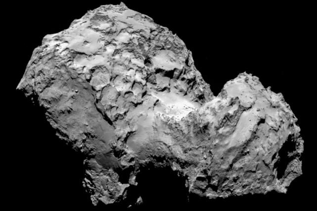 Cinq sites d'atterrissage étaient envisagés sur la comète... (Photo AFP)