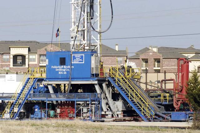 Un puit de gaz de schiste àLewisville au... (Photo Ralph Lauer, collaboration spéciale)