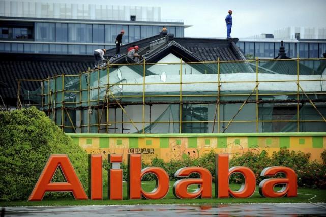 Des rénovations sont effectuées au siège social d'Alibaba... (PHOTO AGENCE FRANCE PRESSE)
