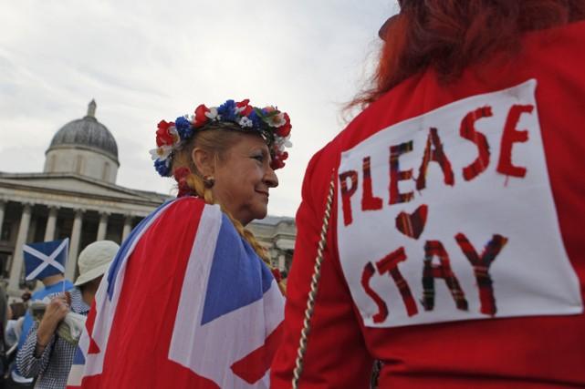 À Londres, quelques milliers de partisans du maintien... (Photo: AFP)