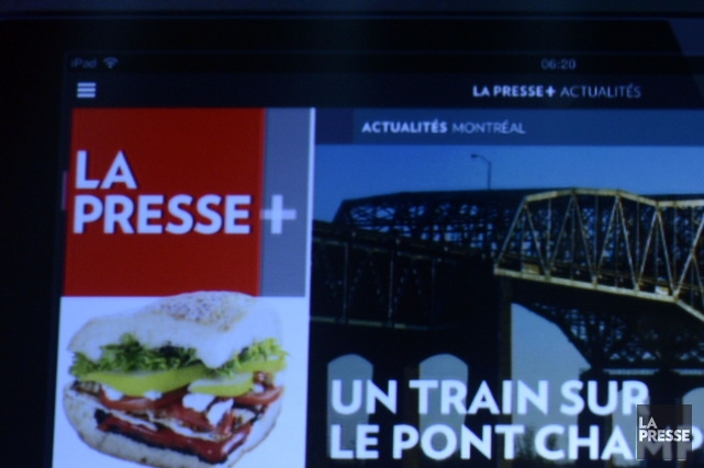 La Presse+ a obtenu trois nominations aux Canadian Online Publishing Awards... (PHOTO BERNARD BRAULT, ARCHIVES LA PRESSE)