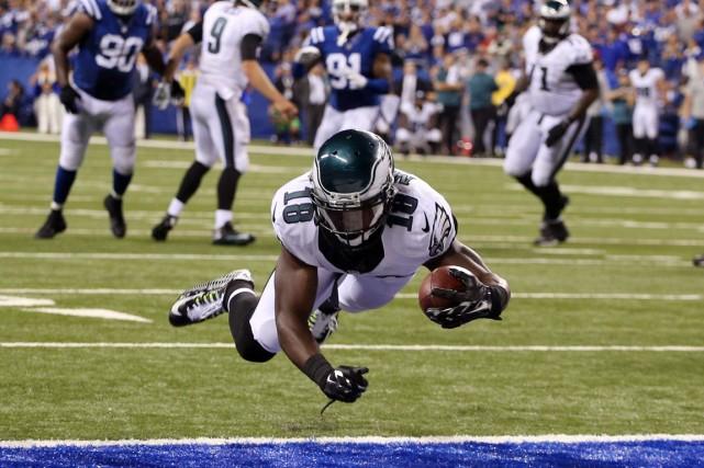 Jeremy Maclin, des Eagles de Philadelphie, a inscrit... (Photo Brian Spurlock, USA Today)