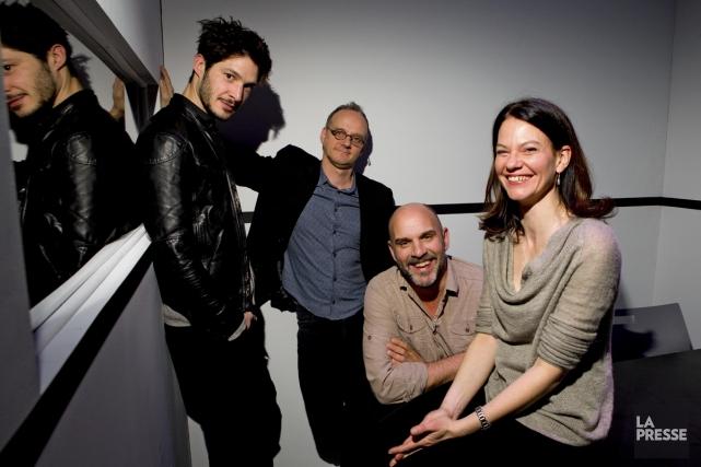 Éric Bruneau, Pierre Verville, Sylvain Marcel et Fanny... (Photo: Alain Roberge, archives La Presse)